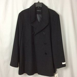 Calvin Klein Wool-Cashmere Blend Peacoat